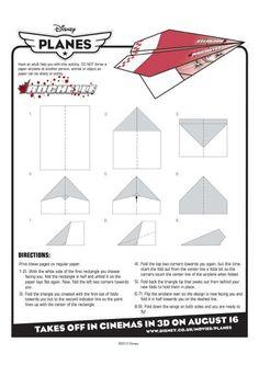 Disney Planes - Rochelle paper plane instructions