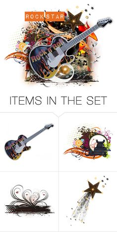 """Flaming Rock Star"" by majezy ❤ liked on Polyvore featuring art"