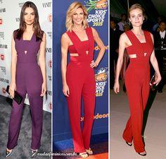Três celebridades internacionais usaram o mesmo modelo de macacão - Emily Ratajkowski, Erin Andrews e Diane Kruger usaram o elegante red jumpsuit da grife Cushine et Ochs Pre Fall 2015! | http://modaefeminices.com.br/2015/09/06/tres-celebridades-internacionais-usaram-o-mesmo-modelo-de-macacao/