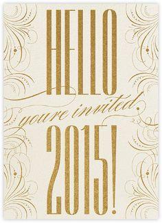 Happy New Year Filigree 2015 - Invitation -