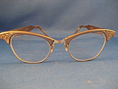 Gold Tone Vintage Eye Glasses. Click the image for more information.