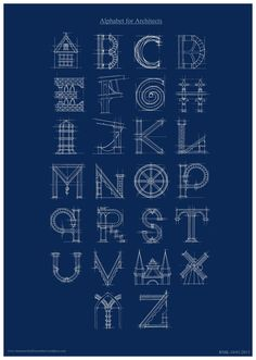 Alphabet for Architects by ~Rose-Ann-Mary-K on deviantART