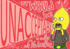 Adventure Time Lemongrab Valentine