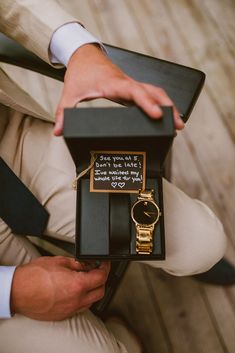 This rustic-luxe forest wedding was filled with neutral tones and travel-inspired elements. A destination forest wedding with stunning flowers. Birthday Gifts For Boyfriend Diy, Cute Boyfriend Gifts, Boyfriend Anniversary Gifts, Gifts For Husband, Wedding Day Groom Gift, Gifts For Wedding Party, Wedding Wishes, Cute Wedding Ideas, Wedding Goals