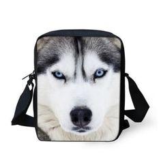d00d0450b18 FORUDESIGNS Funny Animal Husky Dog Children School Bag Cute Print Child  Kids Schoolbag White Mochila Girls