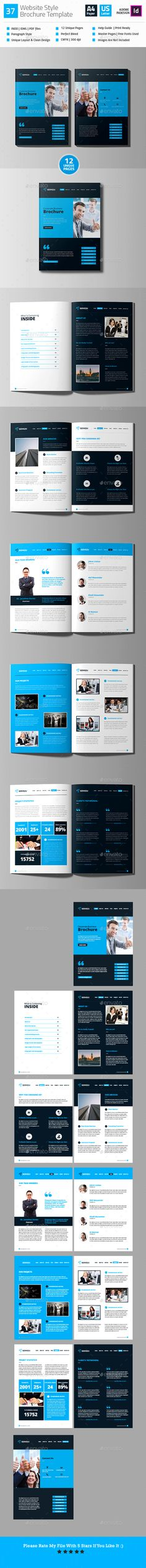 Web Style Brochure Template InDesign INDD - A4 & US Letter Size