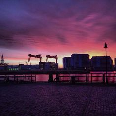 Gorgeous sunrise over Belfast Harbour this morning. Jan 2014