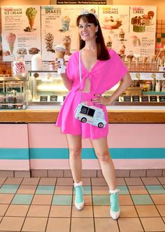 Time for Ice Cream - BethieLife Frilly Socks, Lace Socks, Ankle Socks, Knee Boots, Heels Outfits, Girl Outfits, Cute Outfits, Pink Heels, Sexy Heels