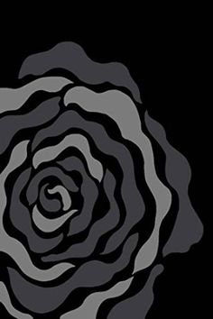 1015 Black White Rose 5x7 Modern Area Rug Carpet
