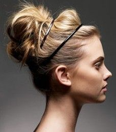 head band updo