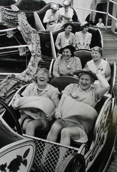 You can choose to live your life with the joy of the front row or solemness of the third row.       Grace Robertson's photographs capture like no one else's what it was to be an Englishwoman in the years after the war.  Click image for more pics :)