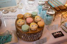 Cinderella Macarons at Ella's Cinderella Sweet Table - Candee Couture Dallas, Texas