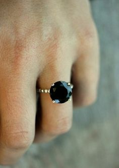 Blue saphire ring.
