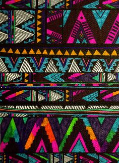 bohemian art print tribal ▲HUIPIL▲  by Kris Tate