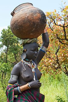 Africa   Young Surma woman. South west Ethiopia   © Johan Gerrits
