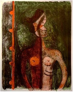 Artwork by Rufino Tamayo, Torse de jeune fille, Made of Color lithograph Figure Painting, Painting & Drawing, Arte Latina, Painter Artist, Mexican Artists, Gravure, Yorkie, Graphic Prints, Les Oeuvres