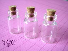 20 Glass Vials Bottles Small Jars  23 x 13mm by theglassconnection, $10.00