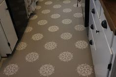 PAINTING MY LINOLEUM KITCHEN FLOORING. THIS IS IMPERATIVE AND MUST BE DONE. Karley. Seriously. Do it.