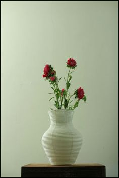 Flower paper vase made in Japan H17.0 x W16.0cm