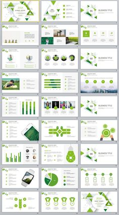 27+ Green Business Dynamic PowerPoint Presentations template