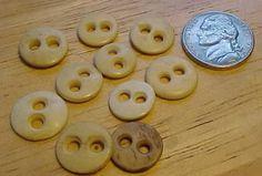 Antique Buttons Identification Online | 10 Vintage / Antique Bone Buttons