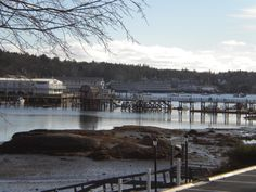 Footbridge from Boothbay Harbor to the East side of Boothbay Harbor,Maine  Our group stayed in the hotel on the middle of the left hand side of the pic...went over that footbridge a few time...wish we had had more time in that quaint little town!!!