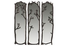 OKL Birds in Trees Mirrors from Evergreen. These would be in my dream bedroom!