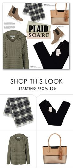 """Plaid Scarf"" by kellylynne68 ❤ liked on Polyvore featuring Weekend Max Mara, Zadig & Voltaire, Fat Face, Calvin Klein, Barneys New York, plaid, scarves and plaidscarf"