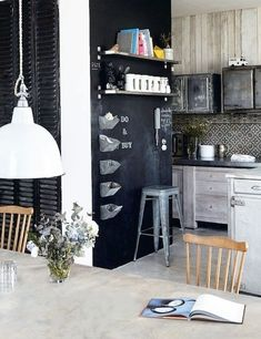 31 Chalkboard Dining Room Décor Ideas You'll Love | DigsDigs
