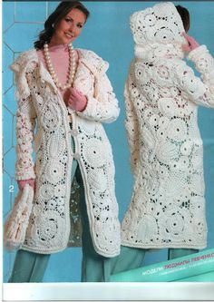 """WUNDERSCHÖN !  Die Anleitung gibt es auf meiner Pinnwand """" Irish Crochet """" ...Jacket Coat"""