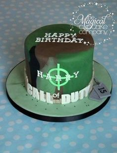 Call of Duty cake - http://www.themagicalcupcakecompany.co.uk/cakes.html#
