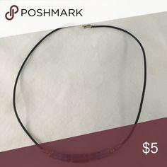 Leather Bead Necklace Leather Bead Necklace Jewelry Necklaces