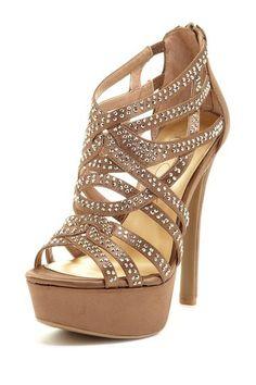 Embellished Multi-Strap Sandal