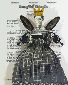 """""""Crazy""""  by stephanie rubiano, via Flickr Paper Collage Art, Collage Book, Mixed Media Collage, Paper Art, Book Art, Michelangelo, Altered Books, Altered Art, Paper Dolls"""