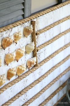 Make a DIY Coastal Flag with Rope and Shells   Finding Home Farms
