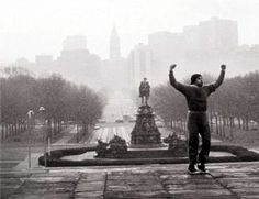 ... image of rocky balboa atop the steps of the philadelphia museum of art
