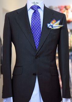 Purple tie Multi pocket square