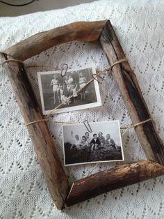 frame lashed together. Frame It, Diy Frame, Frames Decor, Wall Decor, Picture Frame Decor, Handmade Frames, Do It Yourself Home, Fresh Start, Unique Photo
