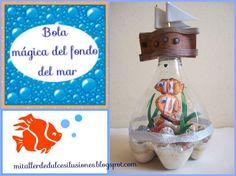 Bola de nieve decorativa hecha con una botella de plástico. ¿Quieres saber cómo?