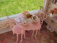 Miniature Pink Table