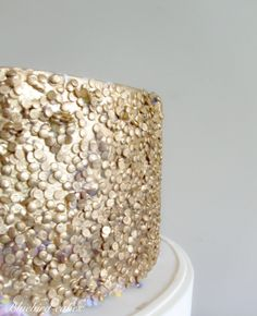 How to make Gold Sequinned Cake