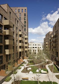 View full picture gallery of st andrews block b Social Housing Architecture, London Architecture, Sustainable Architecture, Architecture Plan, Residential Architecture, Architecture Details, Landscape Architecture, Block B, St Andrews