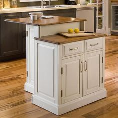 Home Styles Woodbridge Two Tier Kitchen Island 3 pc. Set with 2 Stools - White & Oak - If you think two is better than one, then you'll love the Home Styles Woodbridge Two Tier Kitchen Island 3 pc. Set with 2 Stools - White & Oak. Antique Kitchen Island, White Kitchen Island, Kitchen Islands, Kitchen Black, New Kitchen, Kitchen Dining, Kitchen Cabinets, Kitchen Carts, Kitchen Ideas