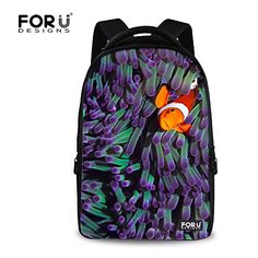 177e0c557 FOR U DESIGNS Classic Undersea World Design Bright School Book Backpack for  Teenagers * This is