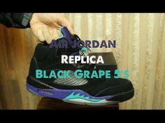 "Replica | ""Perfect"" | Air Jordan 5 | Black Grapes | HipHopVp.ru"