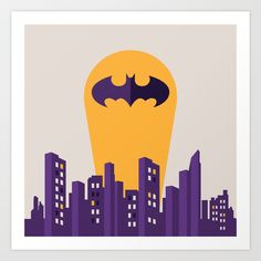Batman Art Print by Ann Van Haeken - $19.00