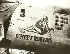 WWII airplane nose art.