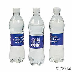 Personalized Awareness Relay Water Bottle Labels