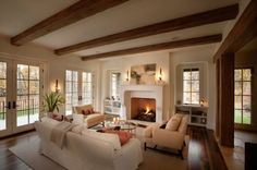pictures of rooms with beams | 125 Living Room Design Ideas: Focusing On Styles And Interior Décor ...
