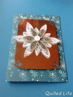 Quilled Life: Snowflake #quilling #Christmas #Christmascard #snowflake #craft #handcraft